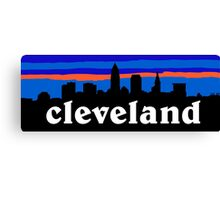 Cleveland, skyline silhouette. Canvas Print