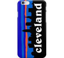 Cleveland, skyline silhouette. iPhone Case/Skin