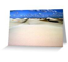 eucula sand dunes Greeting Card