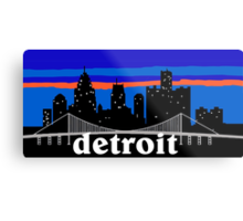 Detroit, skyline silhouette Metal Print