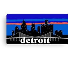 Detroit, skyline silhouette Canvas Print
