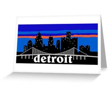 Detroit, skyline silhouette Greeting Card