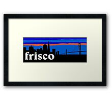 Frisco, skyline silhouette Framed Print