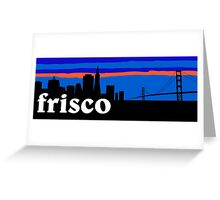 Frisco, skyline silhouette Greeting Card