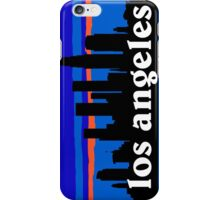 Los Angeles, skyline silhouette iPhone Case/Skin
