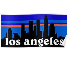 Los Angeles, skyline silhouette Poster