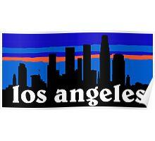 Los Angeles, skyline silhouette Poster