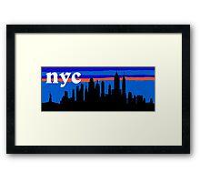 NYC, skyline silhouette Framed Print