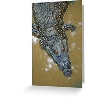 Thai Croc Greeting Card