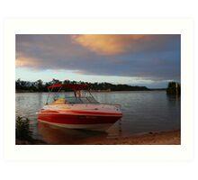Dawn is Breaking - Mannum - South Australia Art Print