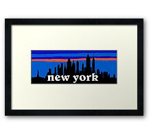 New york, skyline silhouette Framed Print