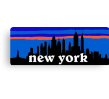 New york, skyline silhouette Canvas Print