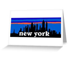 New york, skyline silhouette Greeting Card