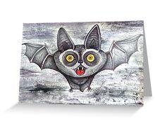 screaming cute cartoon bat Greeting Card