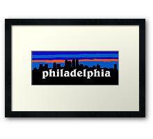 Philadelphia, skyline silhouette Framed Print