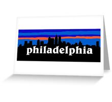 Philadelphia, skyline silhouette Greeting Card