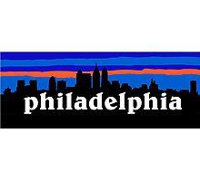 Philadelphia, skyline silhouette Photographic Print