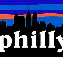Philly, skyline silhouette by mustbtheweather
