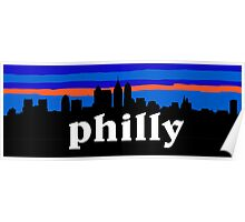Philly, skyline silhouette Poster