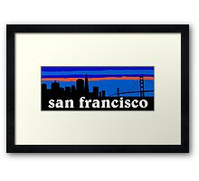 San Francisco, skyline silhouette Framed Print