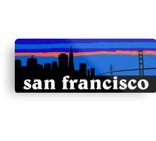 San Francisco, skyline silhouette Metal Print