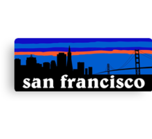 San Francisco, skyline silhouette Canvas Print