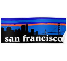 San Francisco, skyline silhouette Poster