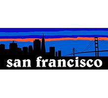 San Francisco, skyline silhouette Photographic Print