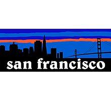 San Francisco, skyline silhouette Photographic Print