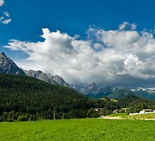 Mountains at Scuol by peterwey