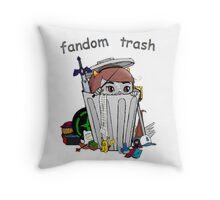 Fandom Trash Logo Throw Pillow