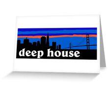 Deep house. San Francisco skyline silhouette Greeting Card