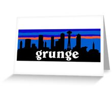 Grunge, Seattle skyline silhouette. Greeting Card