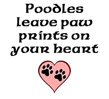 Poodles Leave Paw Prints On Your Heart by kwg2200
