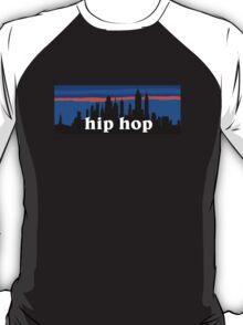 Hip Hop, NYC skyline silhouette T-Shirt