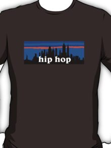 Hip Hop, NYC skyline silhouette T-Shirt
