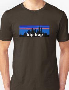 COOL HIP HOP MUSIC, New York skyline silhouette T-Shirt