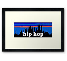 Hip Hop, NYC skyline silhouette Framed Print