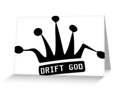 JDM Crown-DRIFT GOD Greeting Card
