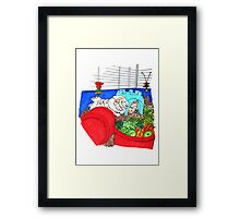 Guinea Pigs in a cage Framed Print