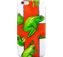 save the frogs red cross iPhone Case/Skin