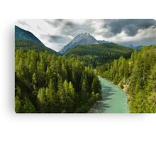 Scenic view of the river Inn Canvas Print