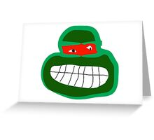 raphael tmnt Greeting Card
