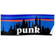 Punk, NYC skyline silhouette Poster
