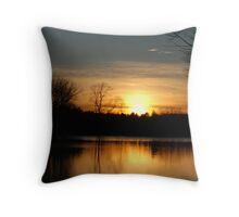 Late Fall Sunset Throw Pillow