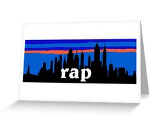 RAP, NYC skyline silhouette Greeting Card
