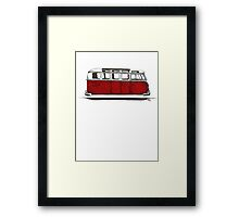 Future bus- red Framed Print