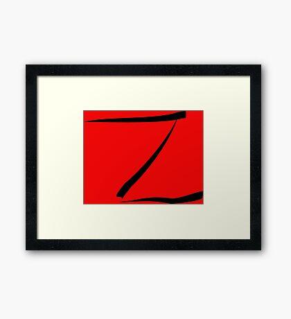 z for zorro or  Framed Print