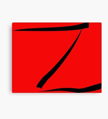 z for zorro or  Canvas Print