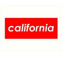 California - Red  Art Print